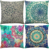 Yitun Accent Luxury Decorative Throw Pillow Covers cases Cozy Cotton Linen Lumbar Pillows Protectors Shams for Outdoor Couch