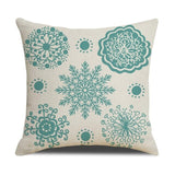 Cotton Linen Square Throw Pillow Cover Merry Christmas Decorative Pillowcase Cushion Accent For Sofa Chair Bed