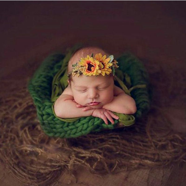 Blanket Baby Photography Prop Chunky Burlap Layer Net Newborn Backdrop