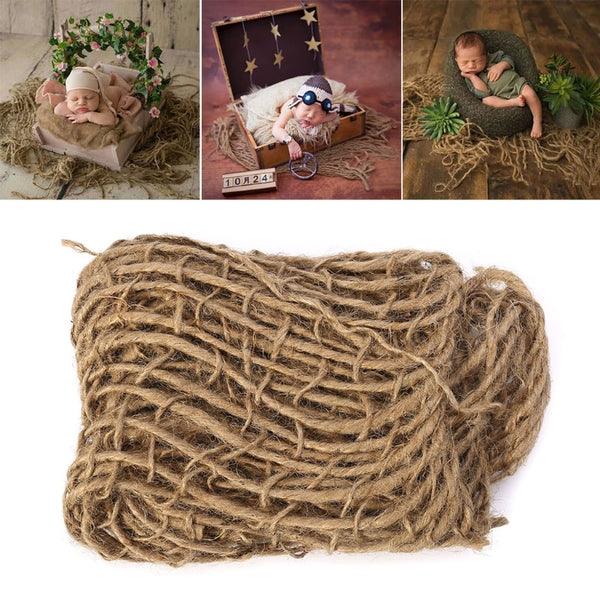 Newborn Photography Prop Chunky Burlap Layer Net Hessian Jute Backdrop Blanket-m20