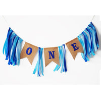 Baby First Birthday Blue Pink Banner ONE Year 1st Birthday Party Decoration Boy Girl I AM ONE Bunting baby Birthday Decorations