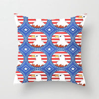Usa Bald Eagle Pattern Accent Throw Pillow Case Decorative Cushion Cover Pillowcase Customize Gift By LVSURE For Car Sofa