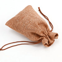 10/50Pcs Mini Christmas Gift Bags Small Linen Jute Drawstring Sack Wedding Birthday Party Rustic Pouch Baby Shower Storage Bag