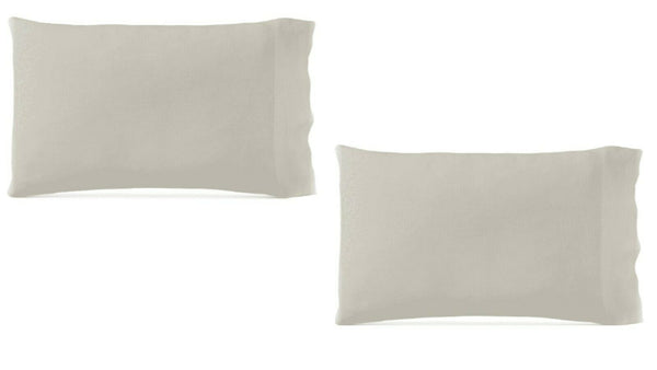 NIP HOTEL COLLECTION PIECE DYE LINEN KING SIZE PILLOWCASES IN NATURAL