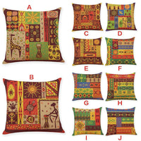 Innovative Ethic Style Linen Pillowcase Car Pillow Covers Car Home Decor Covers