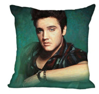 1x 45x45cm Elvis Presley Sofa Cushion Cover Cotton Linen Pillow Case Music UK