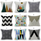 Cotton Linen Sofa Throw Cushion Cover Home Decor Simple Pattern Pillow Case New