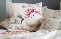 2 x new sansa linen house european pillow cases floral pink beige cushion cover