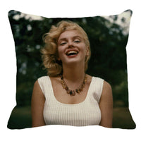 Sexy Female Marilyn Monroe Pattern Linen Hug Pillowcase Home Trend Cushion Cover