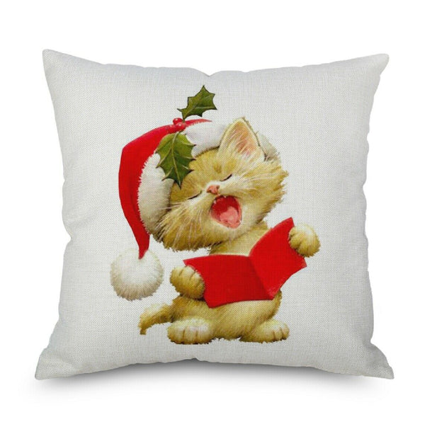 "1 Pcs Merry Christmas Chair Sofa Car Decorative Linen Pillowcases,17.7""*17.7"""