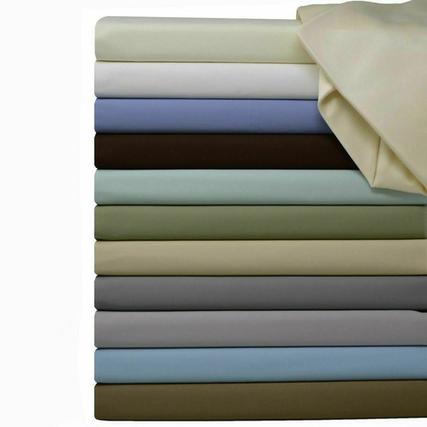 "Hotel Solid Split Top King ""Half Split Fitted"" 100% Cotton Bed Sheets Set 600 TC"
