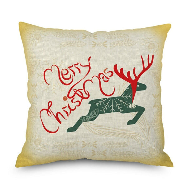 "1 Pcs Merry Christmas Chair Sofa Bed Decorative Linen Pillowcases,17.7""*17.7"""