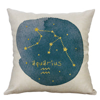 Retro Twelve constellations Pillow Cases Cotton Linen Cushion Cover Home Decor