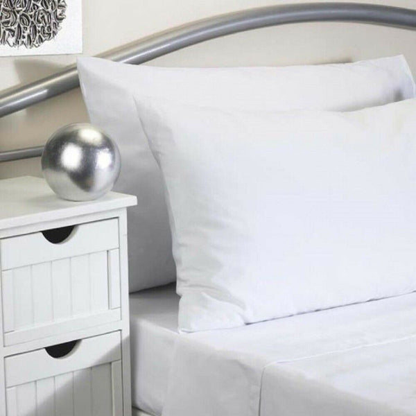 Flame Retardant Bed Linen Housewife Pillowcase Pair, White