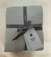 New West Elm Belgian Flax Linen Sheet Set King Platinum Gray