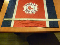 (2) MLB Boston Red Sox Baseball Logo Jersey Mesh Accent Blue Red Pillow Cases