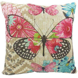 Hand-painted Butterfly Owl Cotton Linen Pillowcase Sofa Cushion Cover New