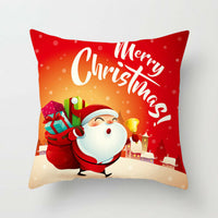 "18"" Merry Christmas Linen Santa Claus Pillow Cases Sofa Cushion Cover Home Decor"
