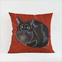 Pets Cat linen Square Pillow cases cushion covers Home Decor 45 cm
