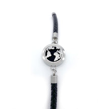 Load image into Gallery viewer, Black Braided Leather Bracelet