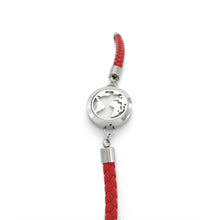 Load image into Gallery viewer, Red Braided Leather Essential Oil Bracelet