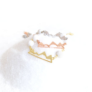 Mountain Essential Oil Bracelet - Rose Gold