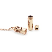 Load image into Gallery viewer, Oil Chamber Essential Oil Necklace - Rose Gold