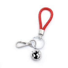 Load image into Gallery viewer, World Map Locket Leather Key Chain
