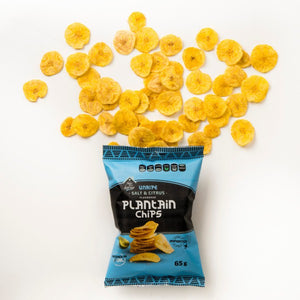 Unripe Salt & Citrus Plantain Chips
