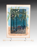 Hanging Earring Holder & Jewelry Organizer - Beach Houses