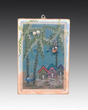 Earring Holder with Beach Houses design