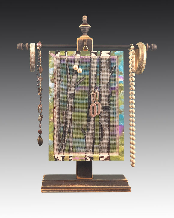 Classic Earring Holder - Birch Trees - Earring Holder Gallery