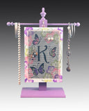 Classic Earring Holder - Monogram - Butterflies