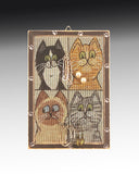 earring holder with cats design