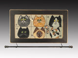 Wall Hanging Earring Holder & Jewelry Organizer - Cats
