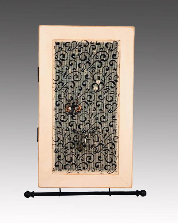 Earring Holder & Jewelry Organizer Cabinet - Curlz Design Earring Holder Gallery