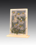 Earring Holder attached to base with Daisies design