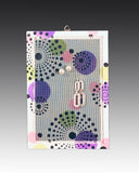 earring holder with a hand painted Dots design