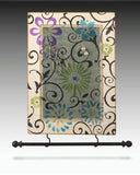 Wall Hanging Earring Holder & Jewelry Organizer - Floral Scroll