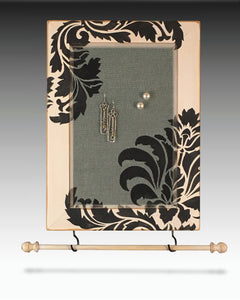 Earring Holder & Jewelry Organizer with Damask desgn