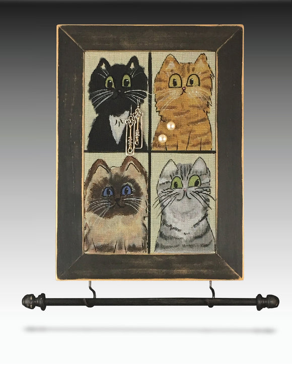 Hanging Earring Holder & Jewelry Organizer - Cats Earring Holder Gallery