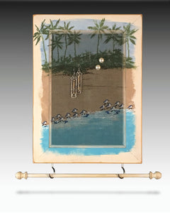 Earring Holder & Jewelry Organizer with Sandpipers design