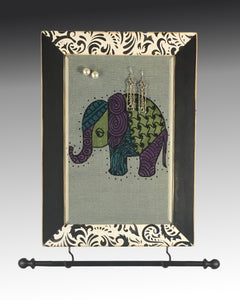 Wall Hanging Earring Holder & Jewelry Organizer - Elephant