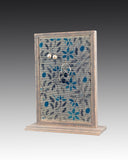 Earring Holder attached to base with Jacobean design