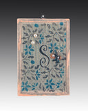 Monogram earring holder