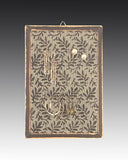 earring holder with a hand painted leaves design