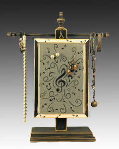 Classic Earring Holder - Music Notes