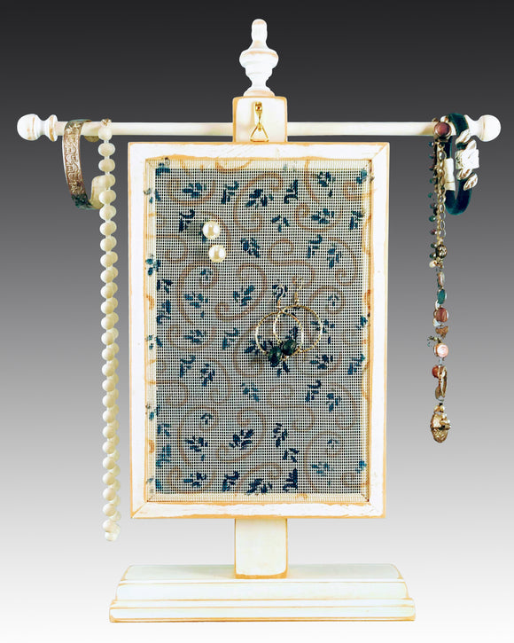 Classic Earring Holder and Jewelry Organizer - Swirl Design - Earring Holder Gallery