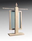 back view of weathered gray necklace stand with earring holder - Earring Holder Gallery