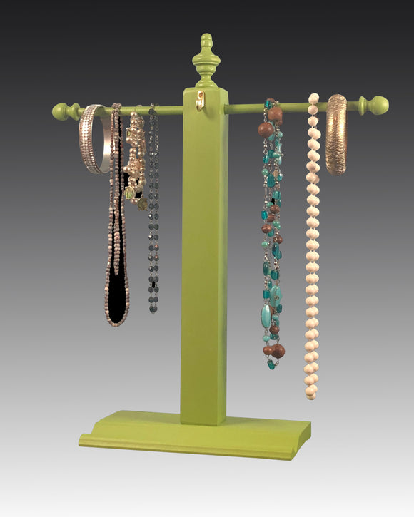 Necklace Stand - Green Earring Holder Gallery